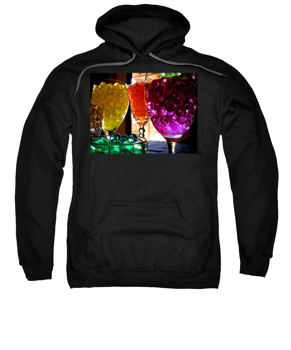 Polymer Gel Sweatshirt featuring the photograph Spherical Polymer Gel 4 by Ru Tover