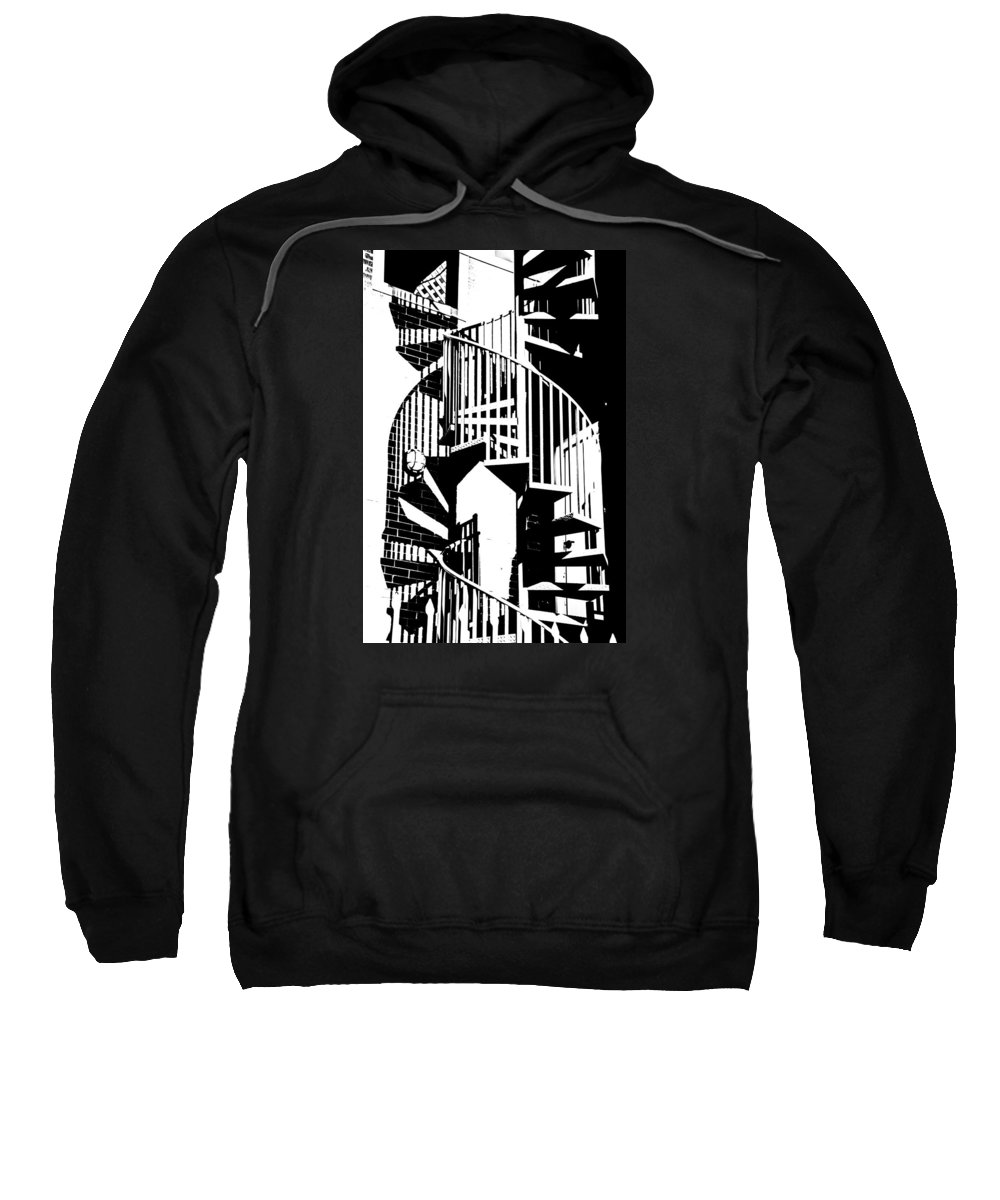 Black And White Sweatshirt featuring the photograph Spiral Stairs by Darryl Dalton