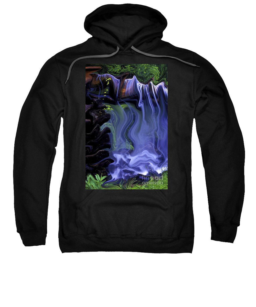Abstract Sweatshirt featuring the photograph Spirit Falls by Paul W Faust - Impressions of Light