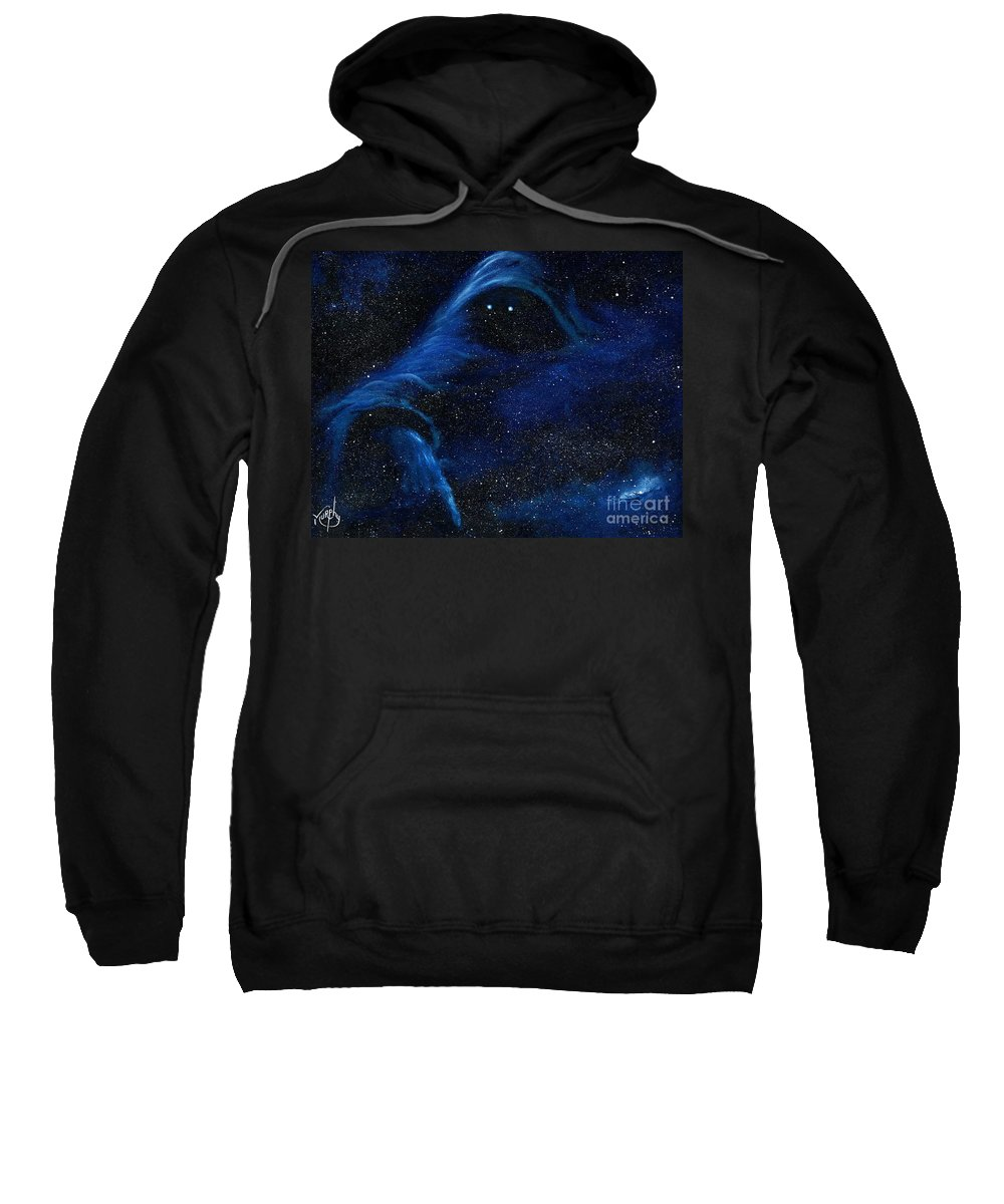 Oil Sweatshirt featuring the painting Spirit in Space by Murphy Elliott