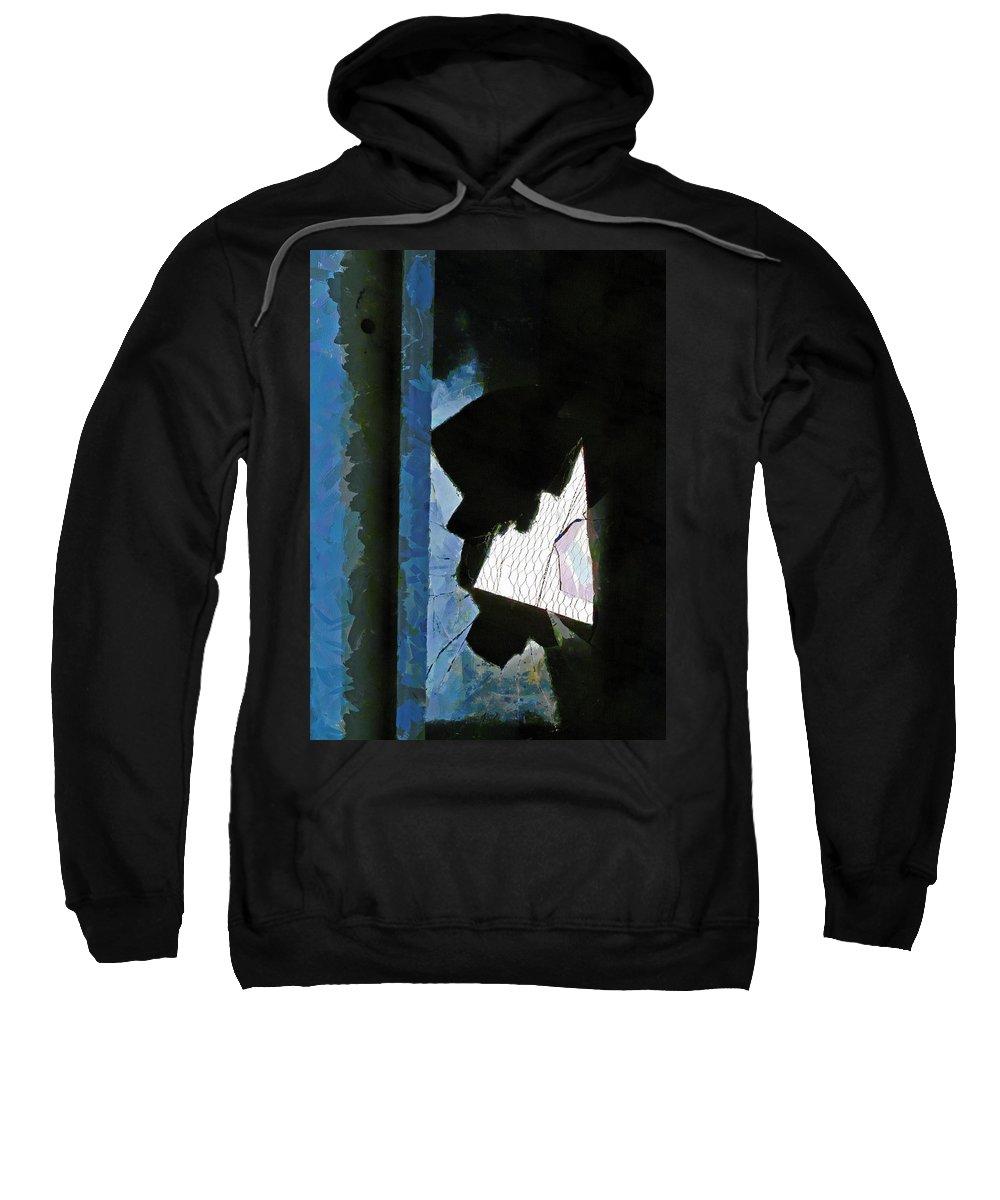 Hole Sweatshirt featuring the digital art Splintered by Steve Taylor