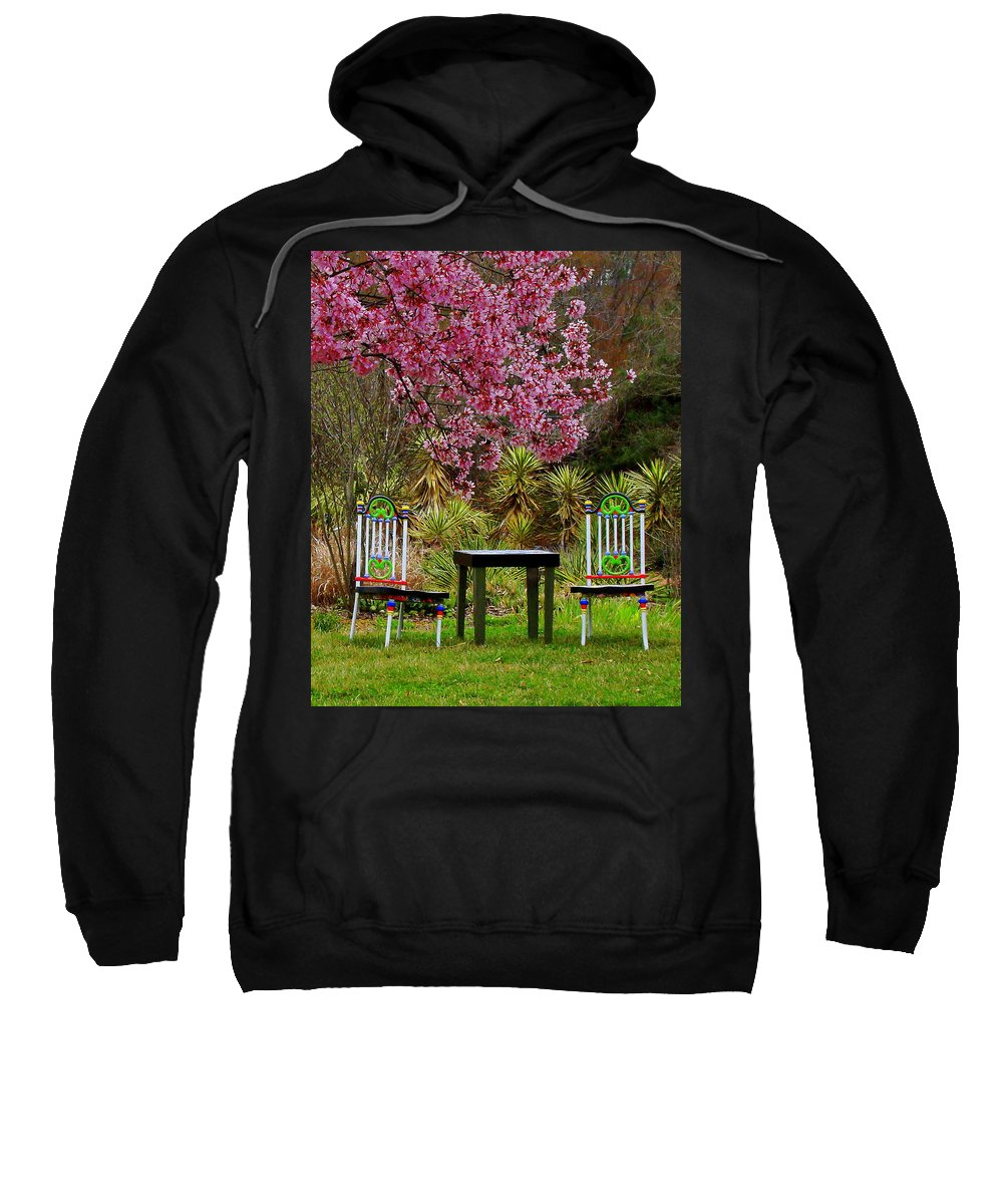 Fine Art Sweatshirt featuring the photograph Spring Begins In Wonderland by Rodney Lee Williams