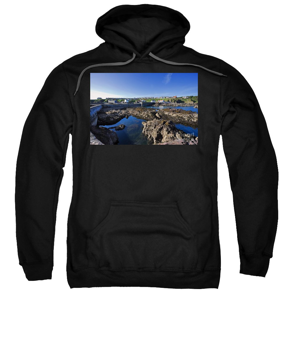 Travel Sweatshirt featuring the photograph St Abbs Scotland by Louise Heusinkveld