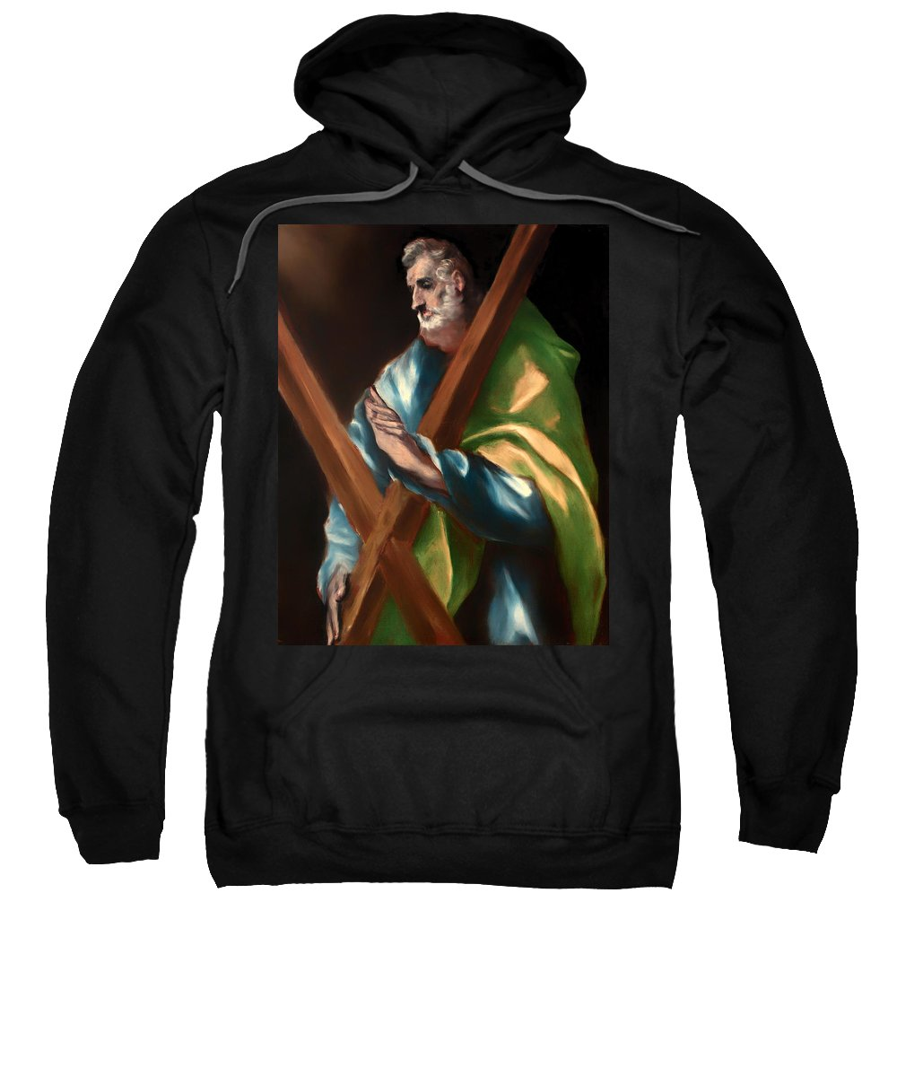 Painting Sweatshirt featuring the painting St Andrew by Mountain Dreams