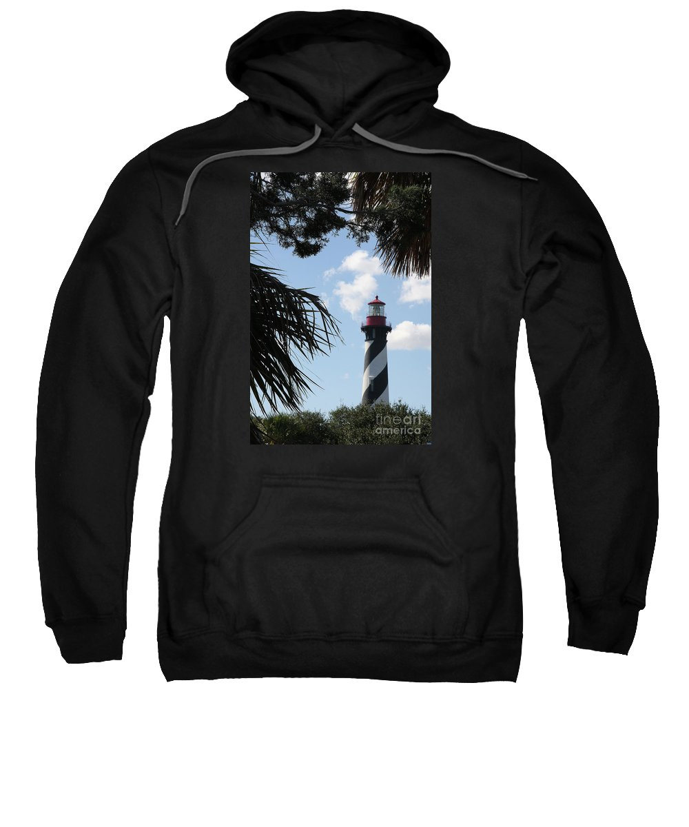 Lighthouse Sweatshirt featuring the photograph St. Ausgustine Lighthouse by Christiane Schulze Art And Photography