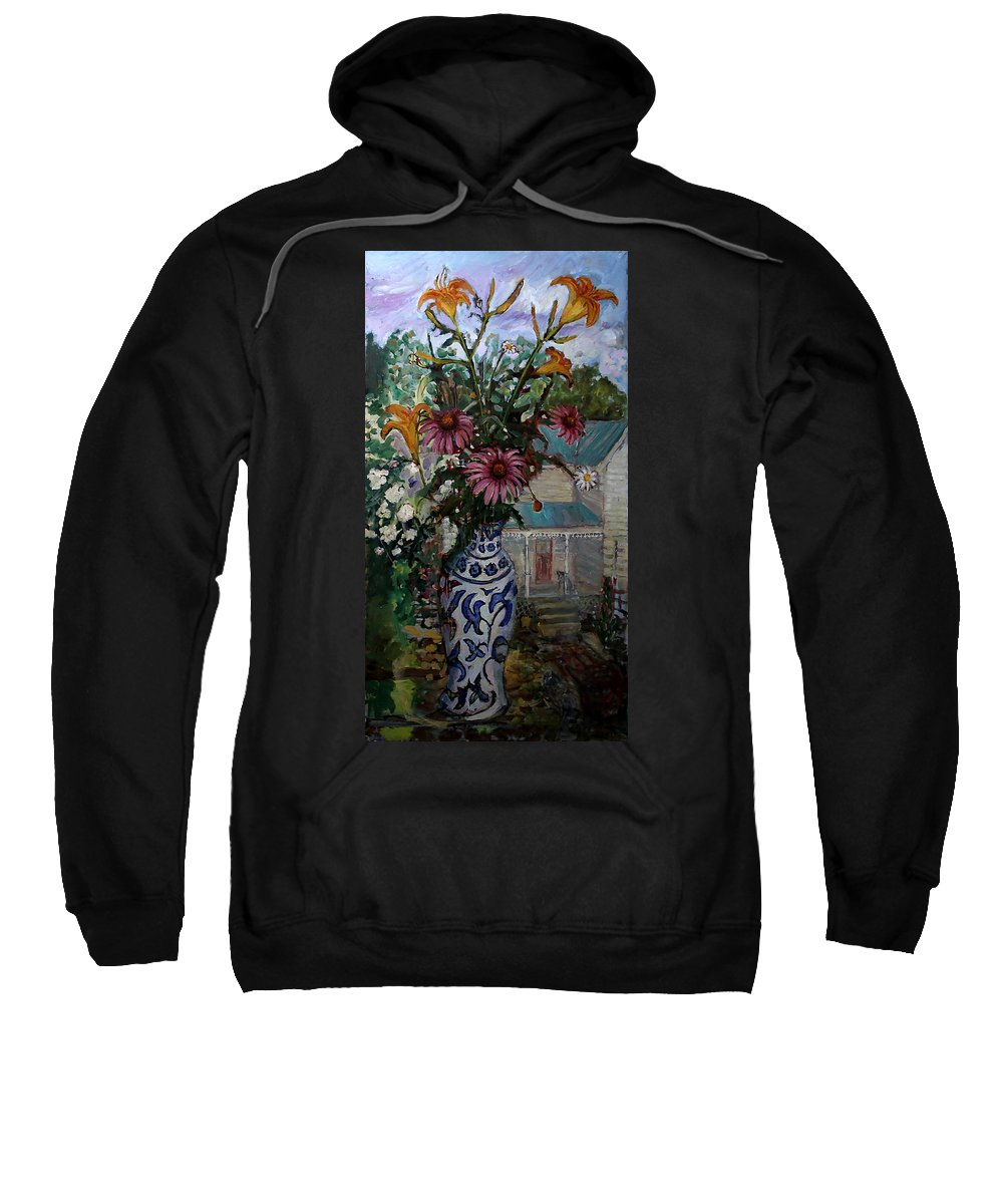Primary Colors Sweatshirt featuring the painting St010 by Paul Emory