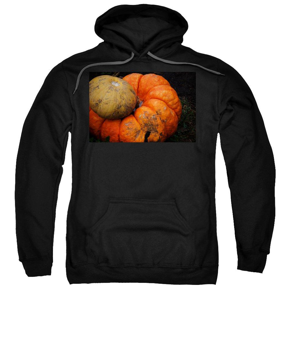 Pumpkin Sweatshirt featuring the photograph Stacked Pumpkins by Jim Shackett