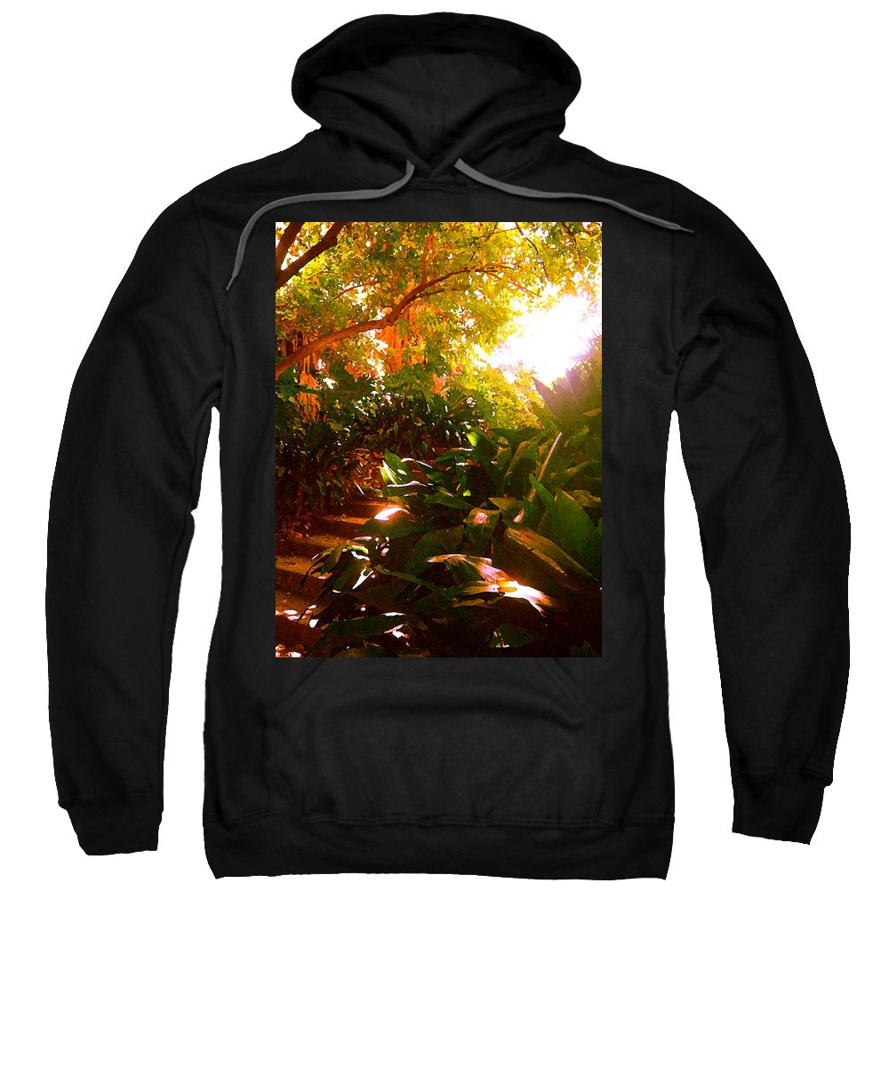 Landscapes Sweatshirt featuring the painting Stairway To The Top by Amy Vangsgard