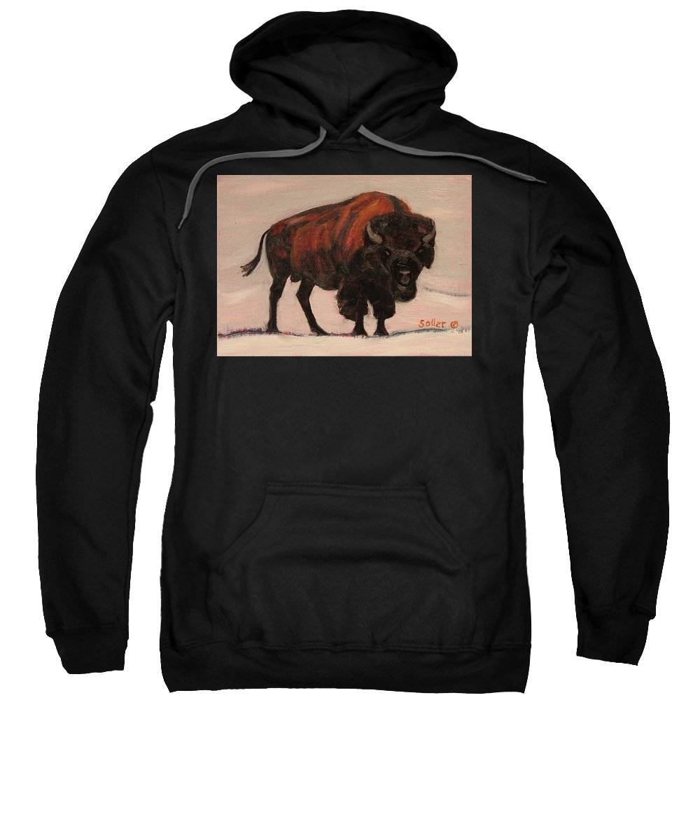 Ruth Soller Sweatshirt featuring the painting Stand Your Ground by Ruth Soller