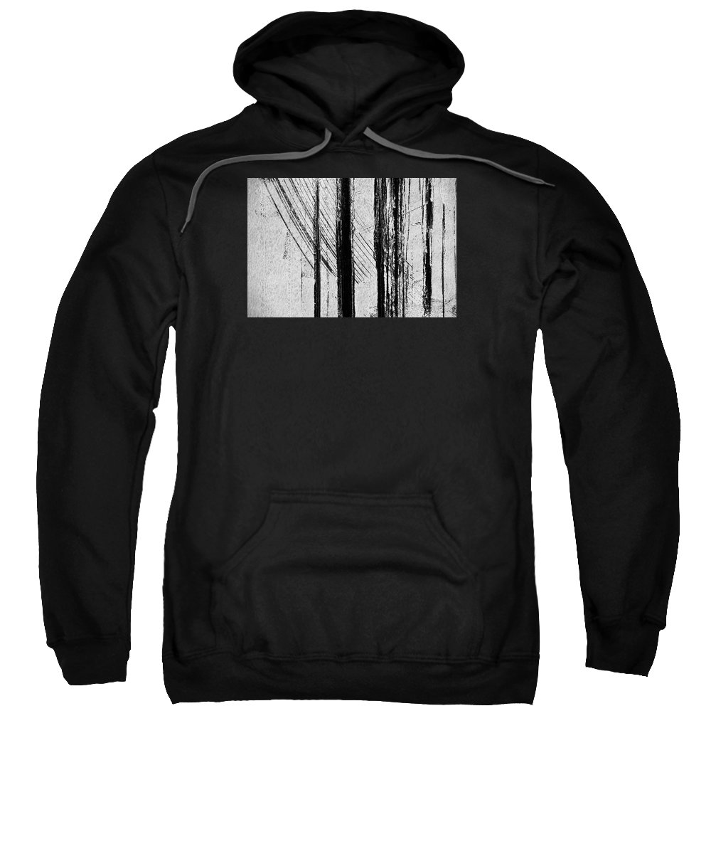 Architectural Abstract Sweatshirt featuring the photograph Starlight Behind The Trees by KM Corcoran