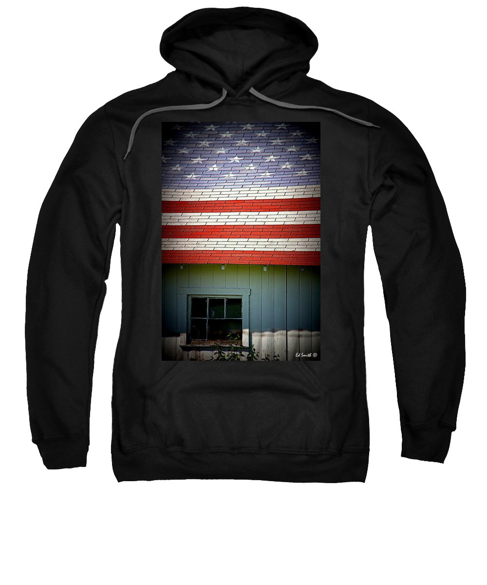 Stars And Stripes Sweatshirt featuring the photograph Stars And Stripes by Ed Smith