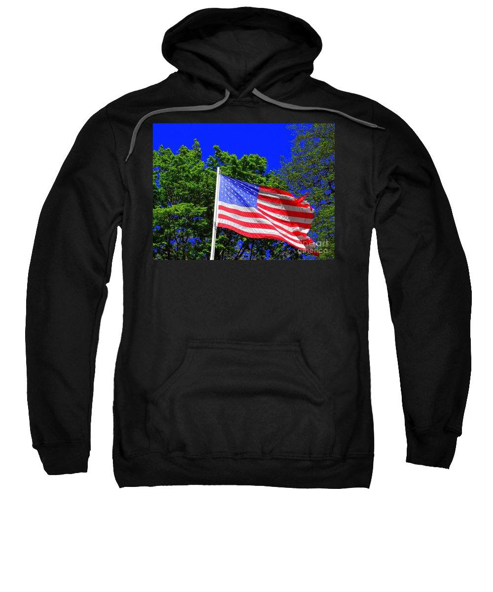 American Flag Sweatshirt featuring the photograph Stars And Stripes by Ed Weidman