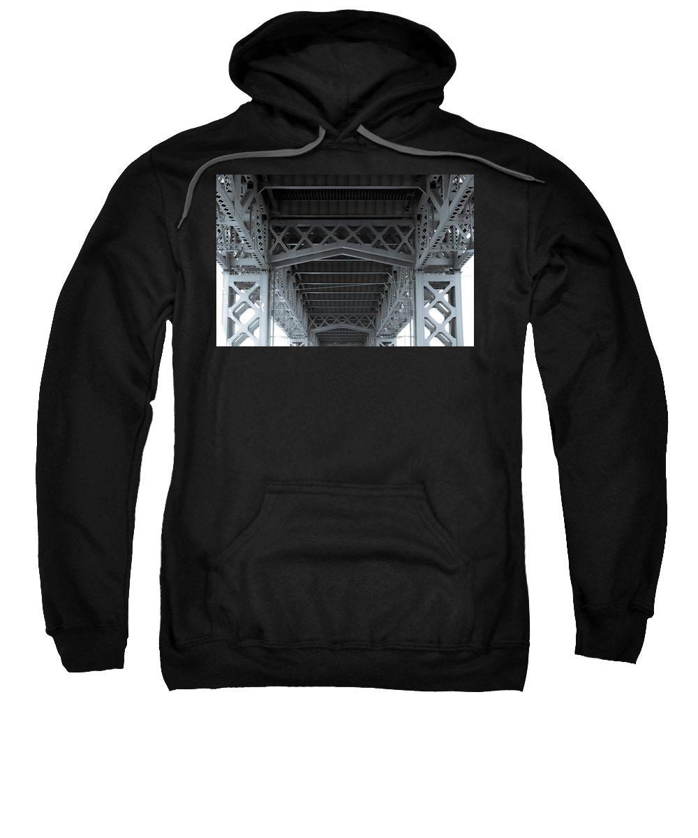 Under Sweatshirt featuring the photograph Steel Girder Bridge by Ray Sheley