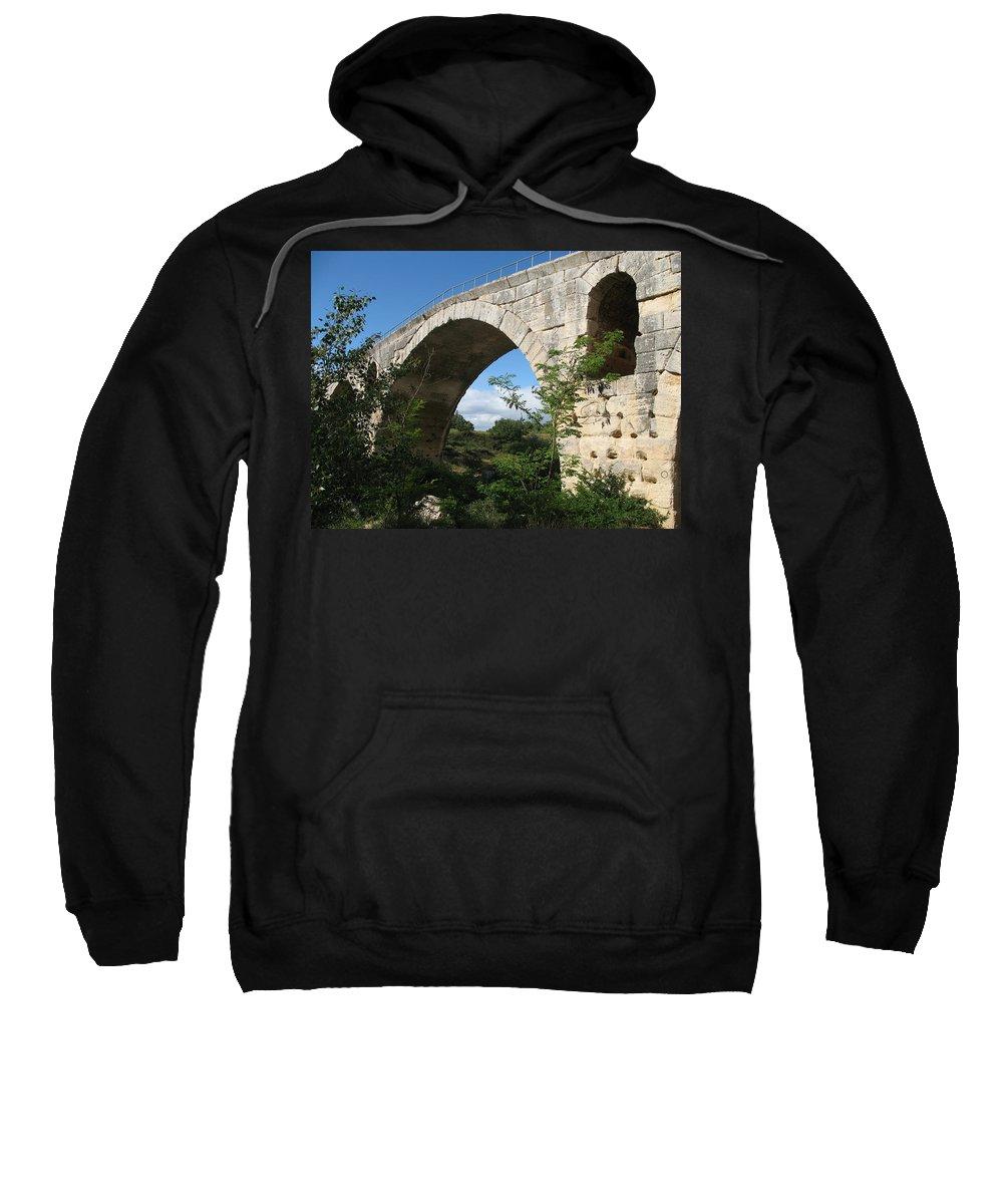 Roman Stonebridge Sweatshirt featuring the photograph Stone Arch Of Pont St. Julien by Christiane Schulze Art And Photography
