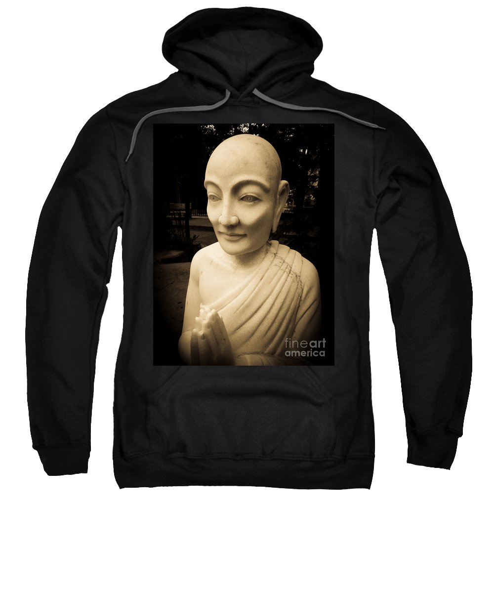 Ancient Sweatshirt featuring the photograph Stone Monk by Angela Wright