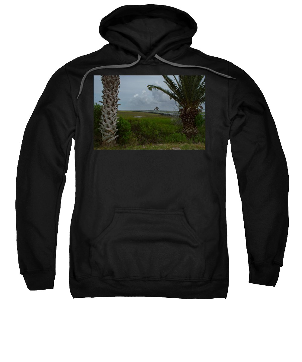 Texas Sweatshirt featuring the photograph Storm Clouds Near Port Lavaca by JG Thompson