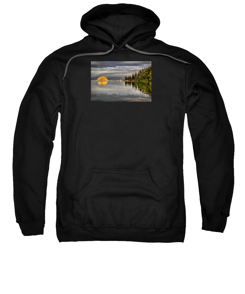 Morro Bay Sweatshirt featuring the photograph Storm Light by Alice Cahill