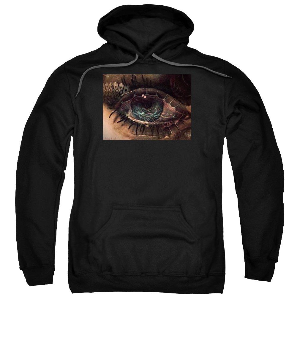 Anatomy Sweatshirt featuring the photograph Strange Eye by Melissa Rowell
