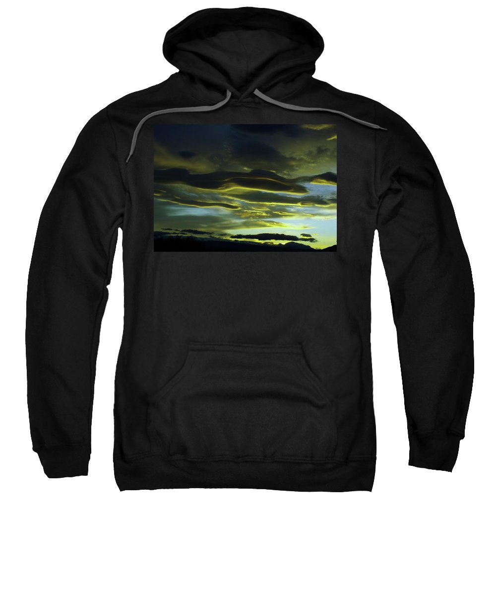 Clouds Sweatshirt featuring the photograph Streaming Clouds by Jeff Swan