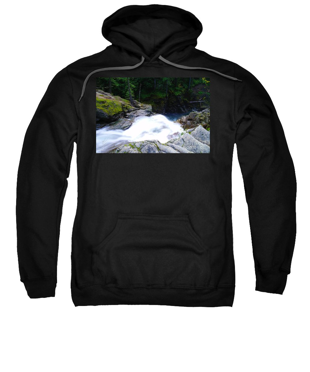Water Sweatshirt featuring the photograph Streaming Down by Jeff Swan