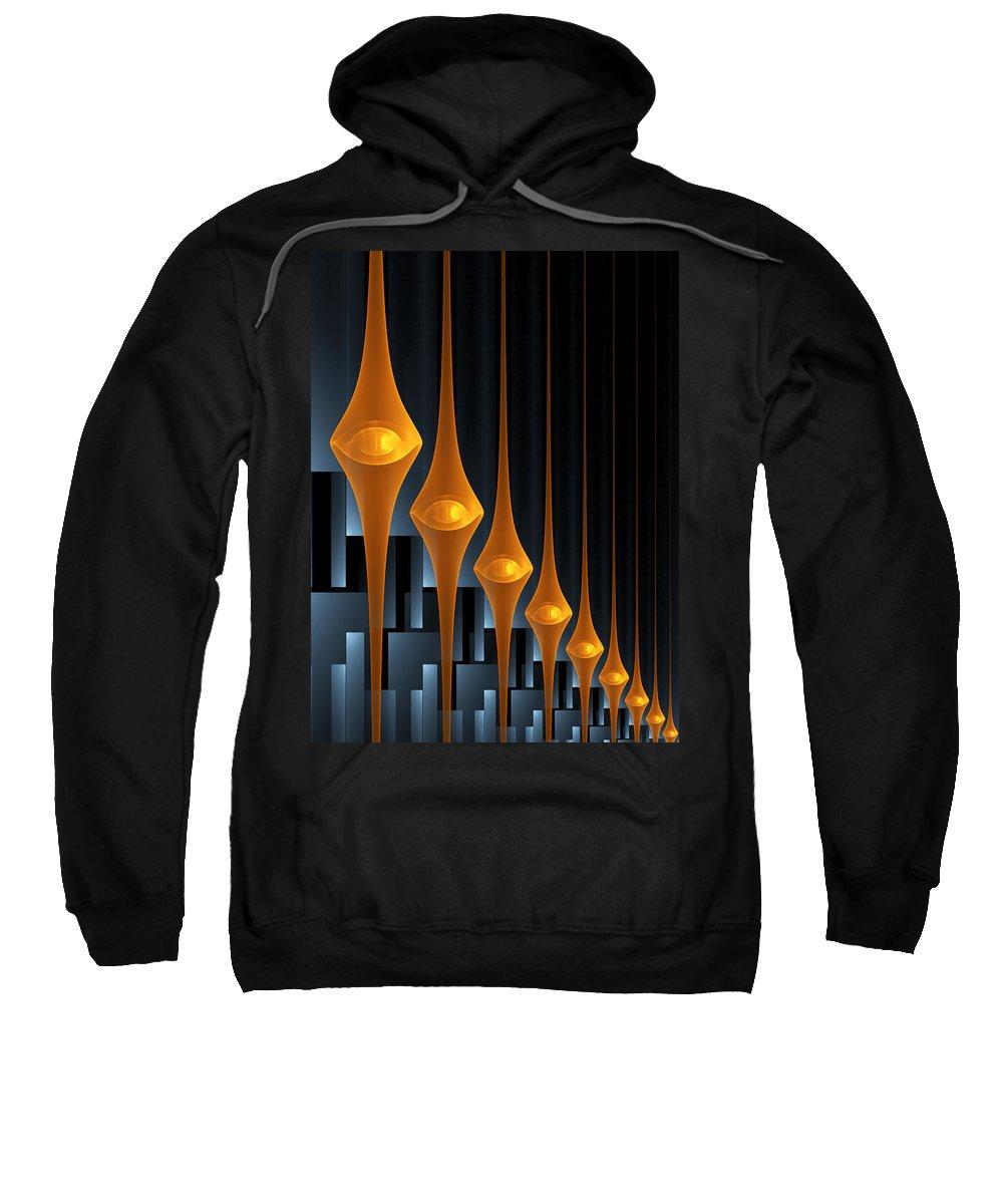 Street Lights Sweatshirt featuring the digital art Street Lights by Gabiw Art