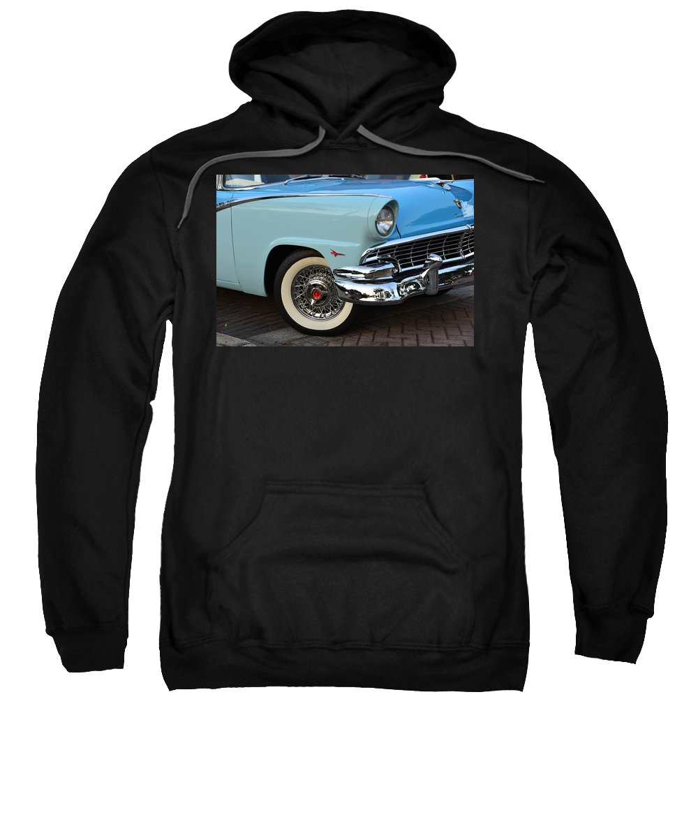 1956 Ford Fairlane Sunliner Sweatshirt featuring the photograph Streets Of 1956 by David Lee Thompson