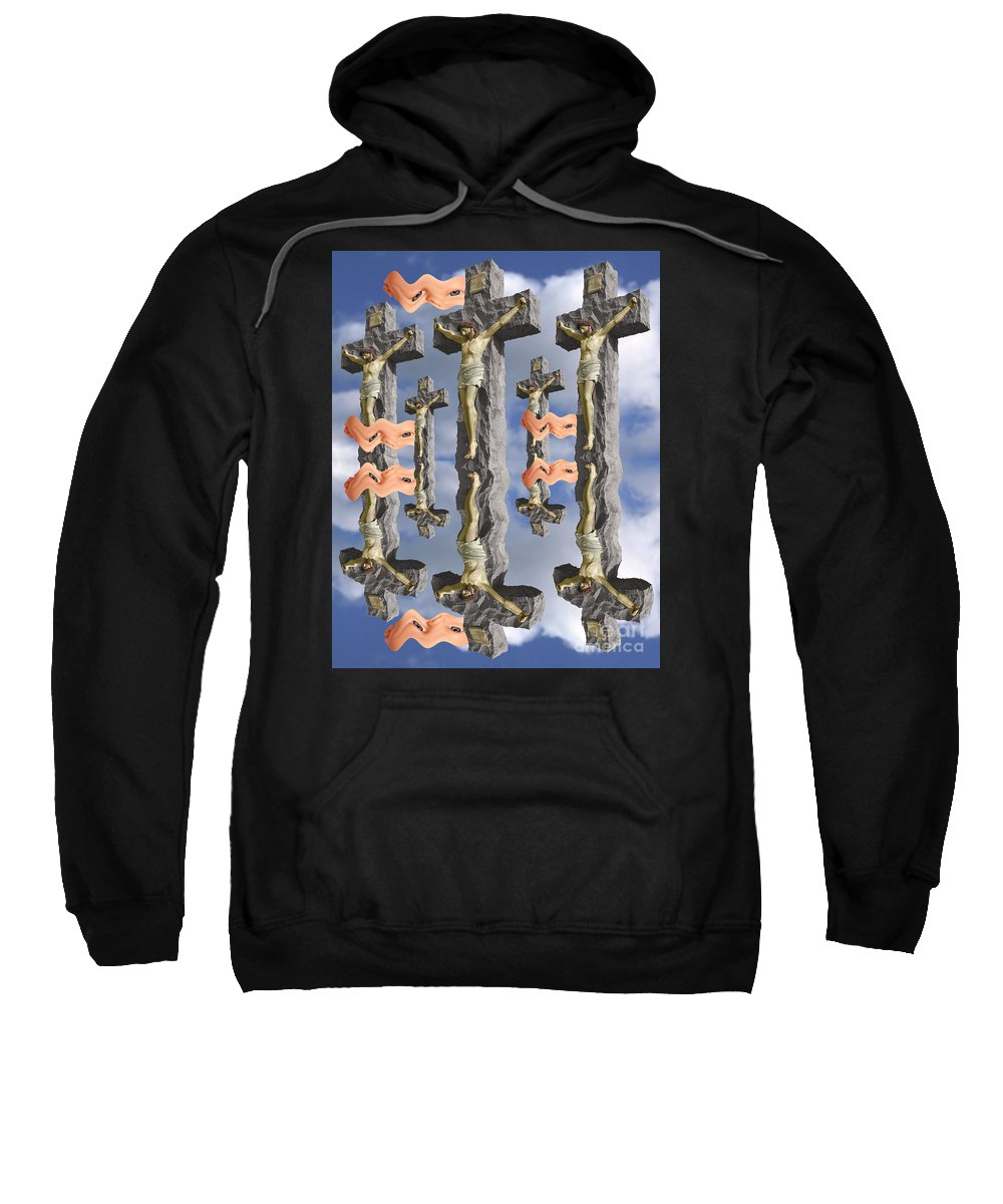 Digital Art Sweatshirt featuring the digital art String Theory 2 by Keith Dillon