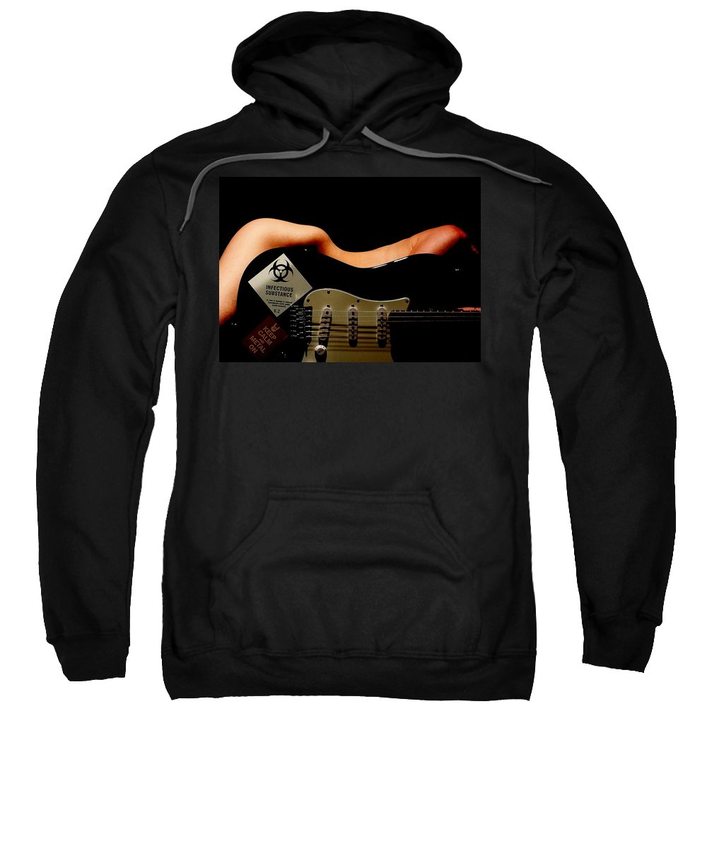 Hot Sweatshirt featuring the photograph Strum Pet by Guy Pettingell
