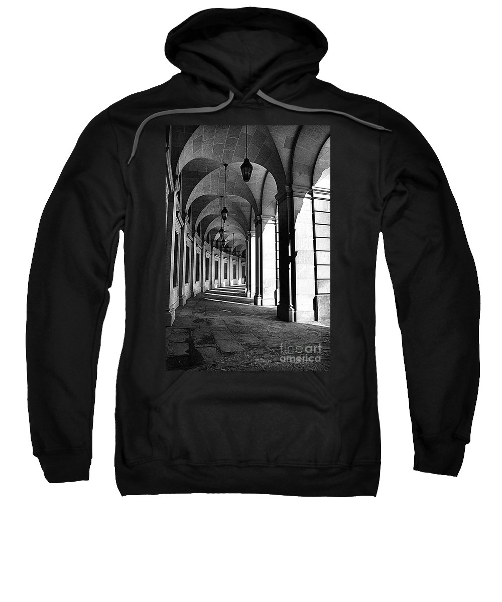 Arches Sweatshirt featuring the photograph Study In Black And White by John S