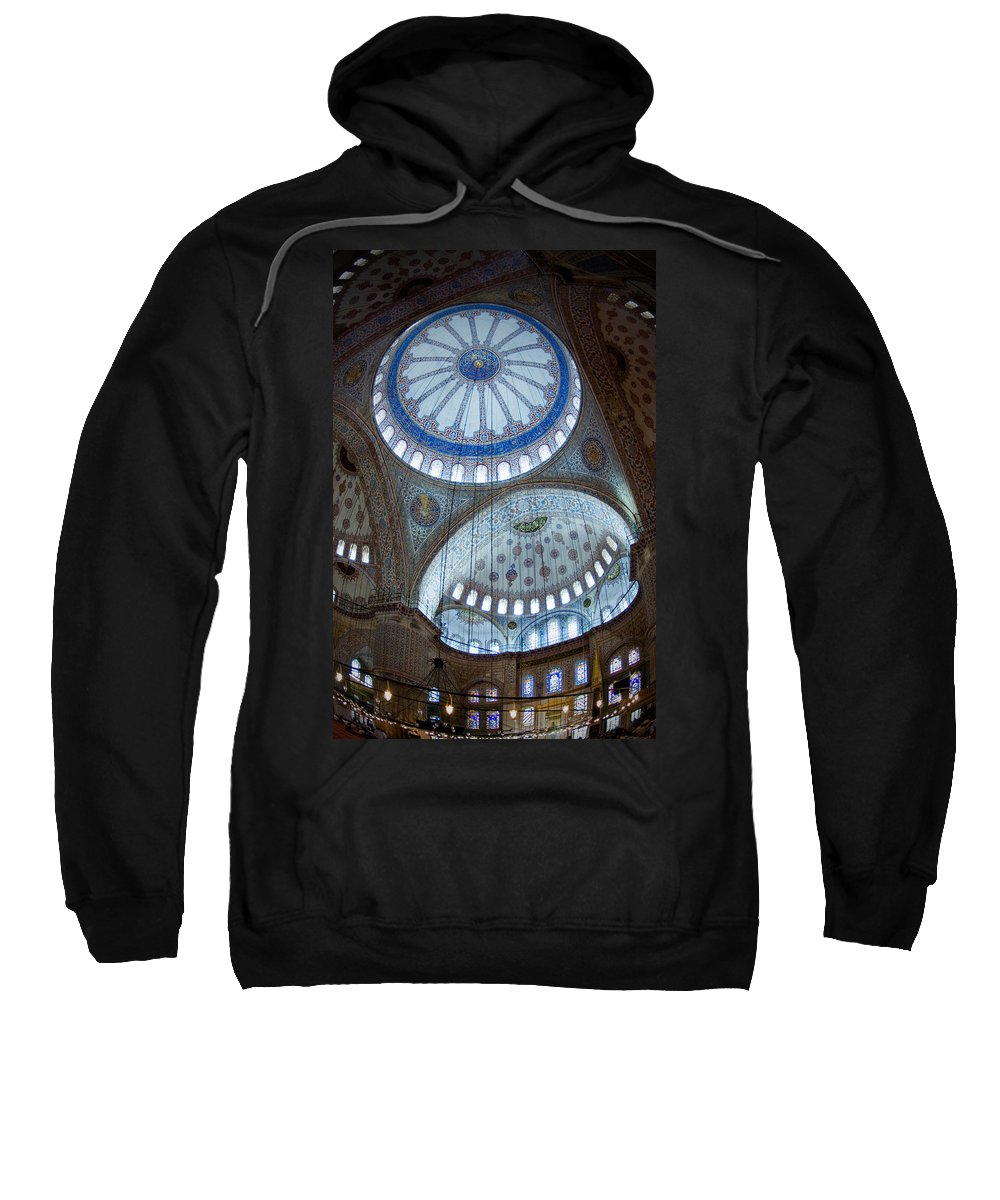 Sultan Ahmed Camii Sweatshirt featuring the digital art Sultan Ahmed Camii Blue Mosque Istanbul Turkey by Dray Van Beeck