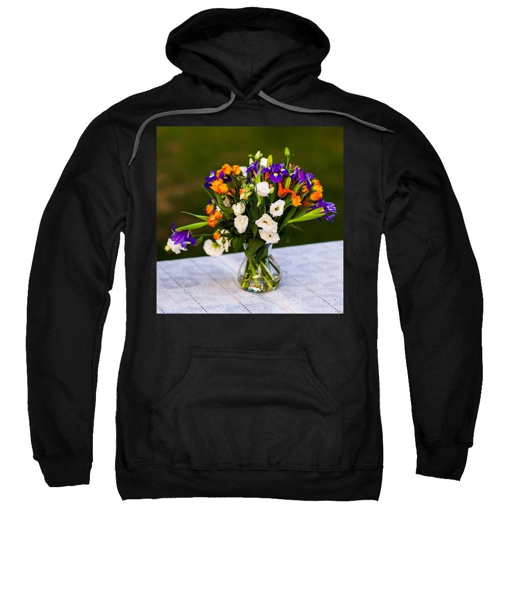 Arrangement Sweatshirt featuring the photograph Summer Flowers Featured 3 by Alexander Senin