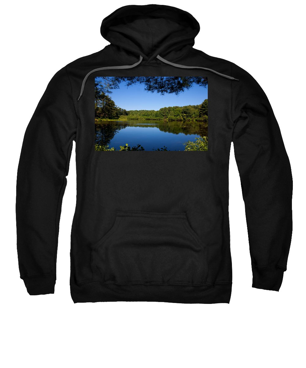 Landscape Sweatshirt featuring the photograph Summers Blue View by Karol Livote