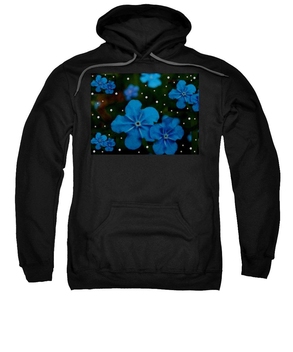 Landscape Sweatshirt featuring the mixed media Summertime Blues Pop Art by Pepita Selles