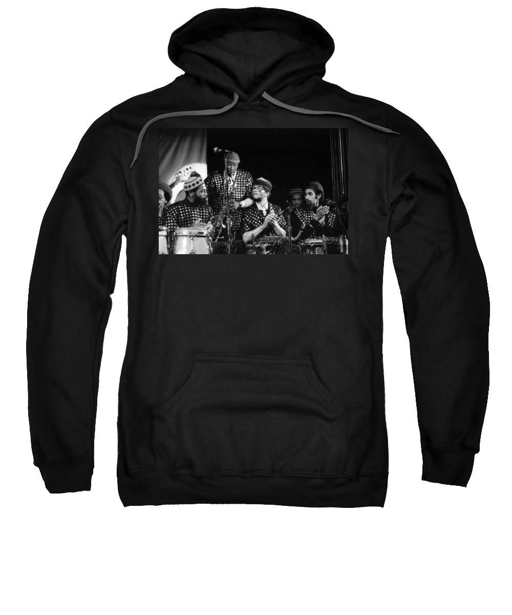 Jazz Sweatshirt featuring the photograph Sun Ra Arkestra With John Gilmore by Lee Santa
