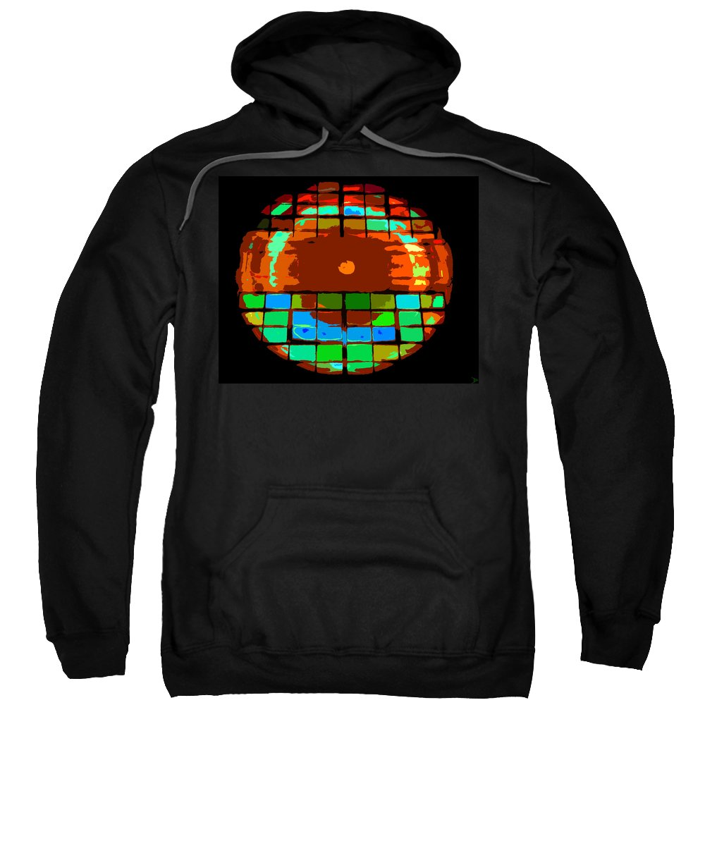 Abstract Art Sweatshirt featuring the painting Sun Through Windows by David Lee Thompson