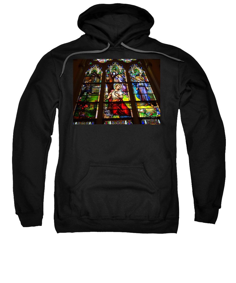 Stained Glass Sweatshirt featuring the photograph Sunday Morning by Ed Weidman