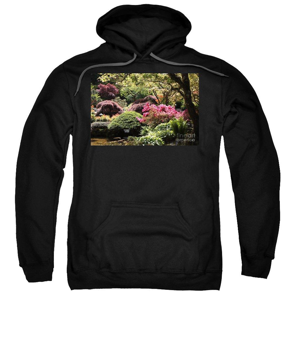 Japanese Garden Sweatshirt featuring the photograph Sunny Japanese Garden by Carol Groenen