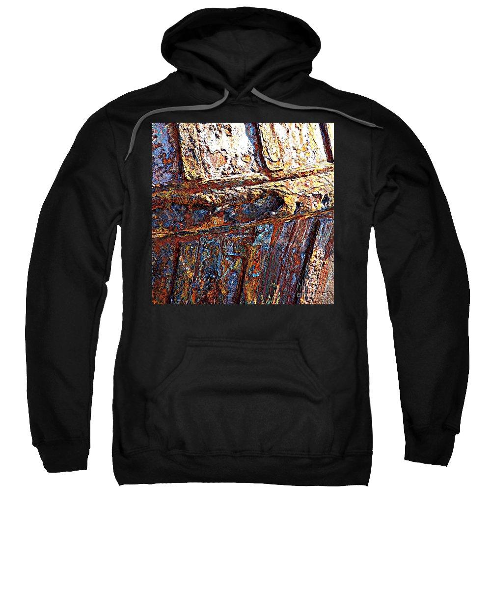 Ship Hull Sweatshirt featuring the photograph Sunny Side Up - Digital Art by Carol Groenen