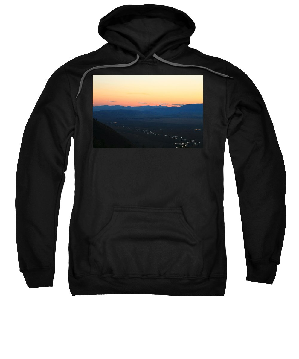 Jackson Hole Sweatshirt featuring the photograph Sunrise And River by Catie Canetti