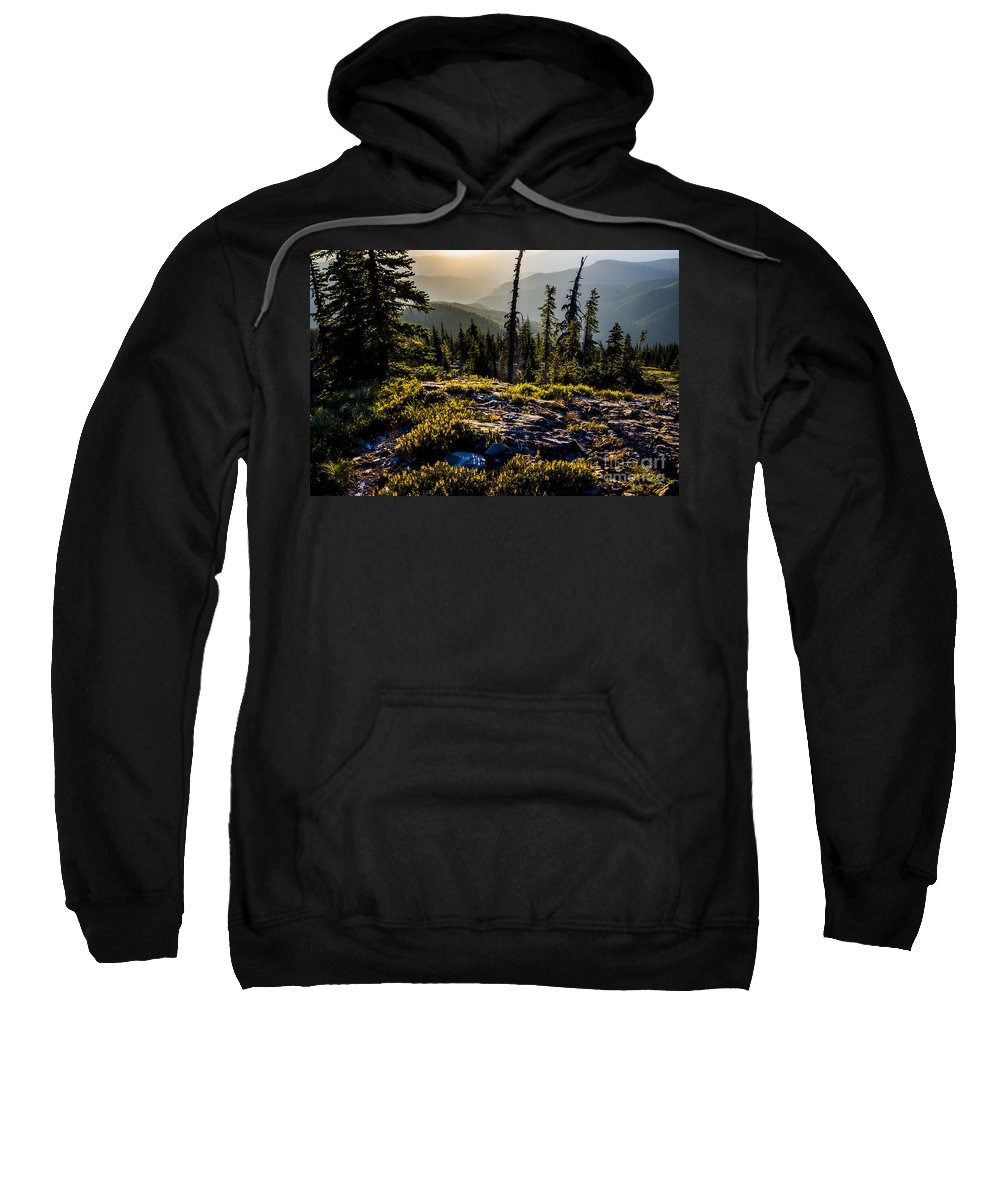 Cabinet Mountains Sweatshirt featuring the photograph Sunrise At Smith Peak by Albert Seger