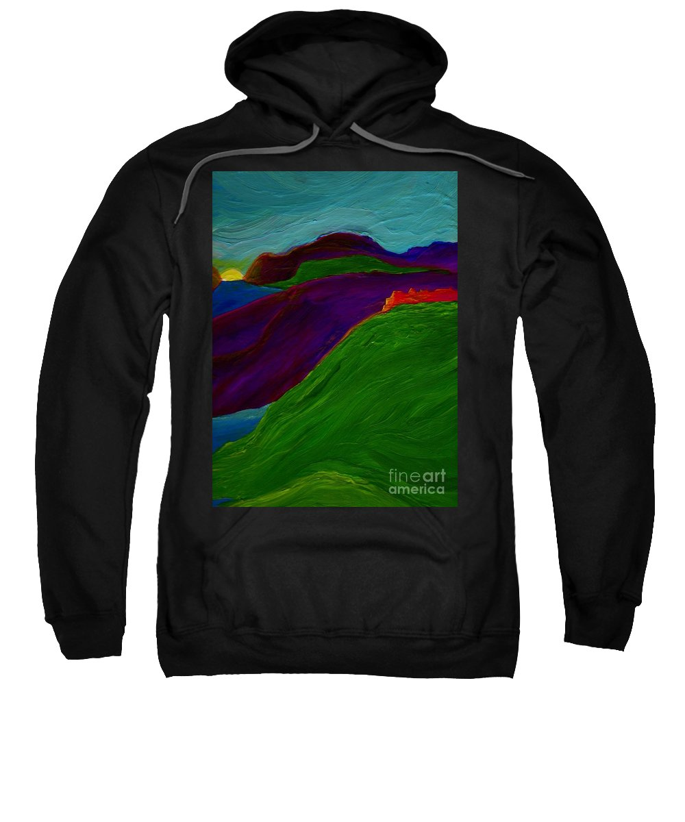 Castle Sweatshirt featuring the painting Sunrise Castle By Jrr by First Star Art