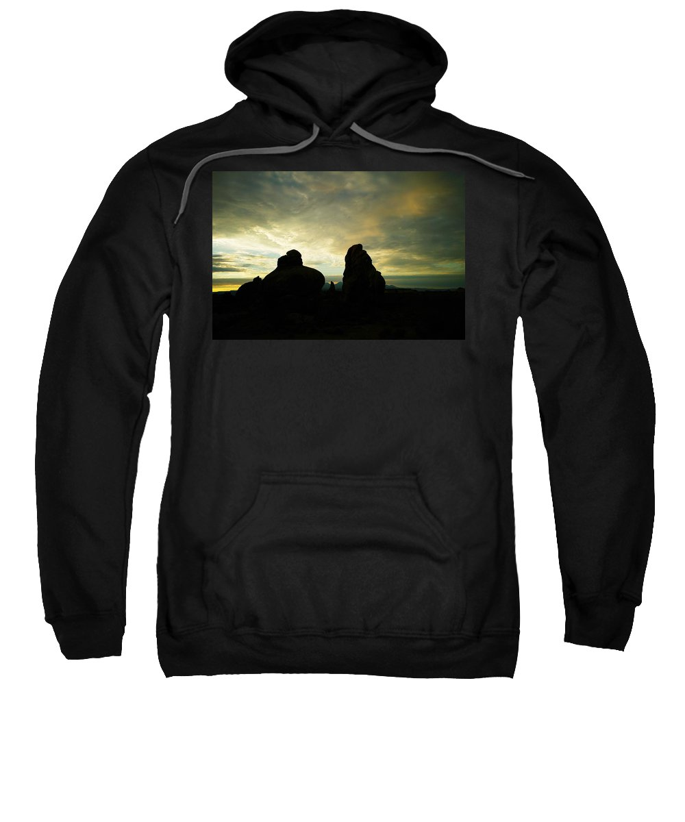 Sunrise Sweatshirt featuring the photograph Sunrise In Arches National Park by Jeff Swan