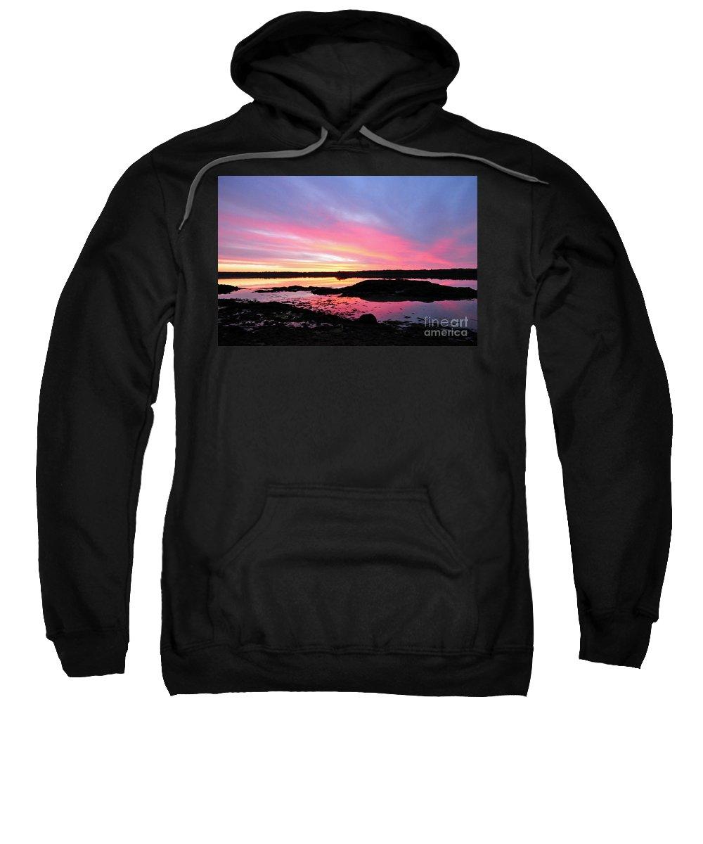 Sunrise Sweatshirt featuring the photograph Sunrise In Maine by Glenn Gordon