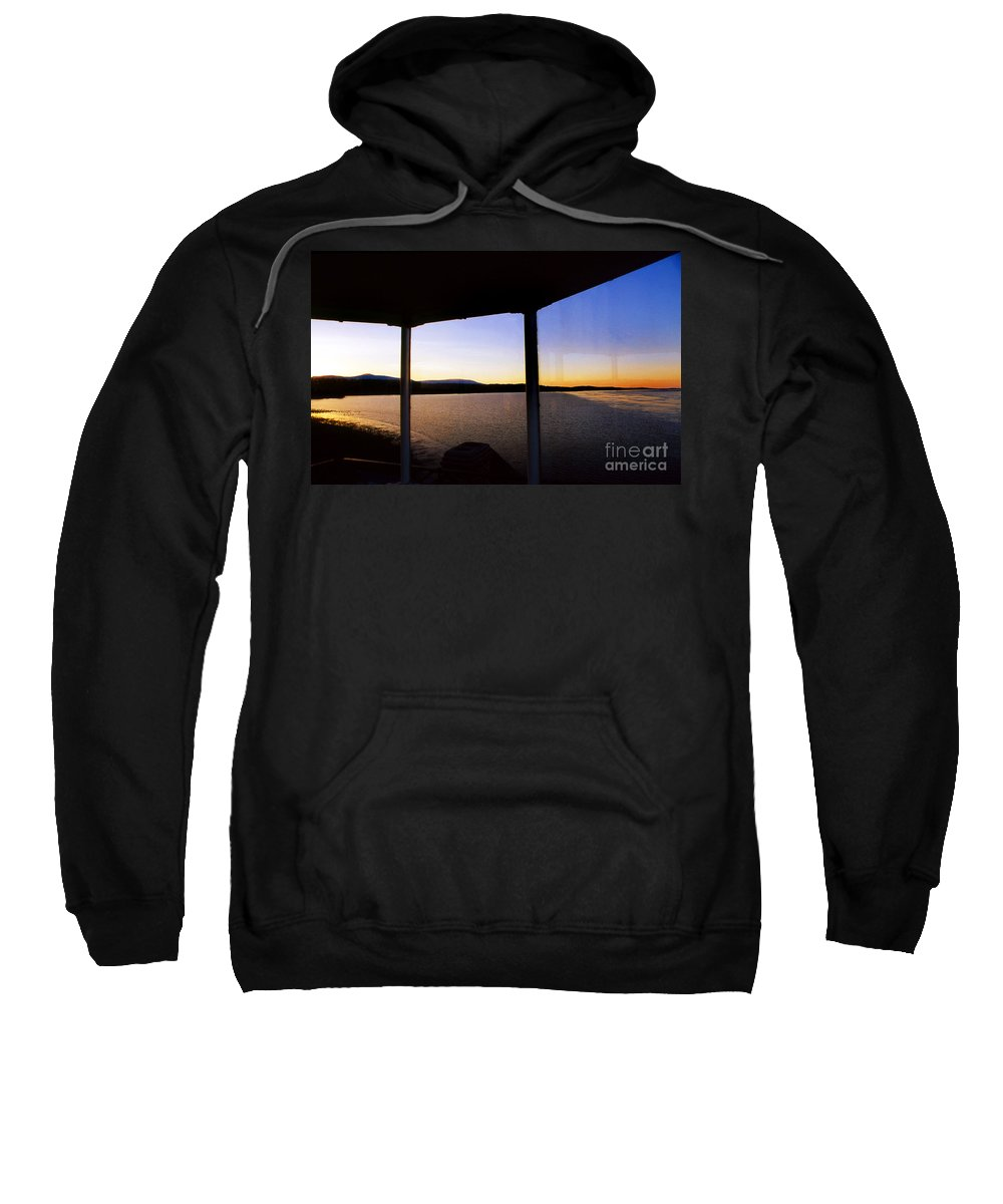 Lighthouses Sweatshirt featuring the photograph Sunrise On The Hudson by Skip Willits
