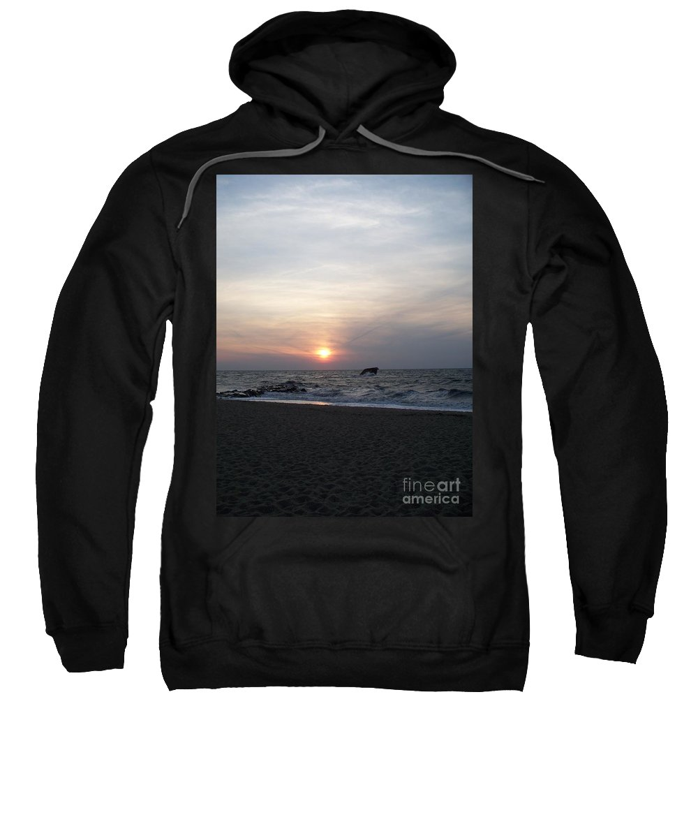 Cape May Nj Sweatshirt featuring the painting Sunset At Cape May Nj by Eric Schiabor
