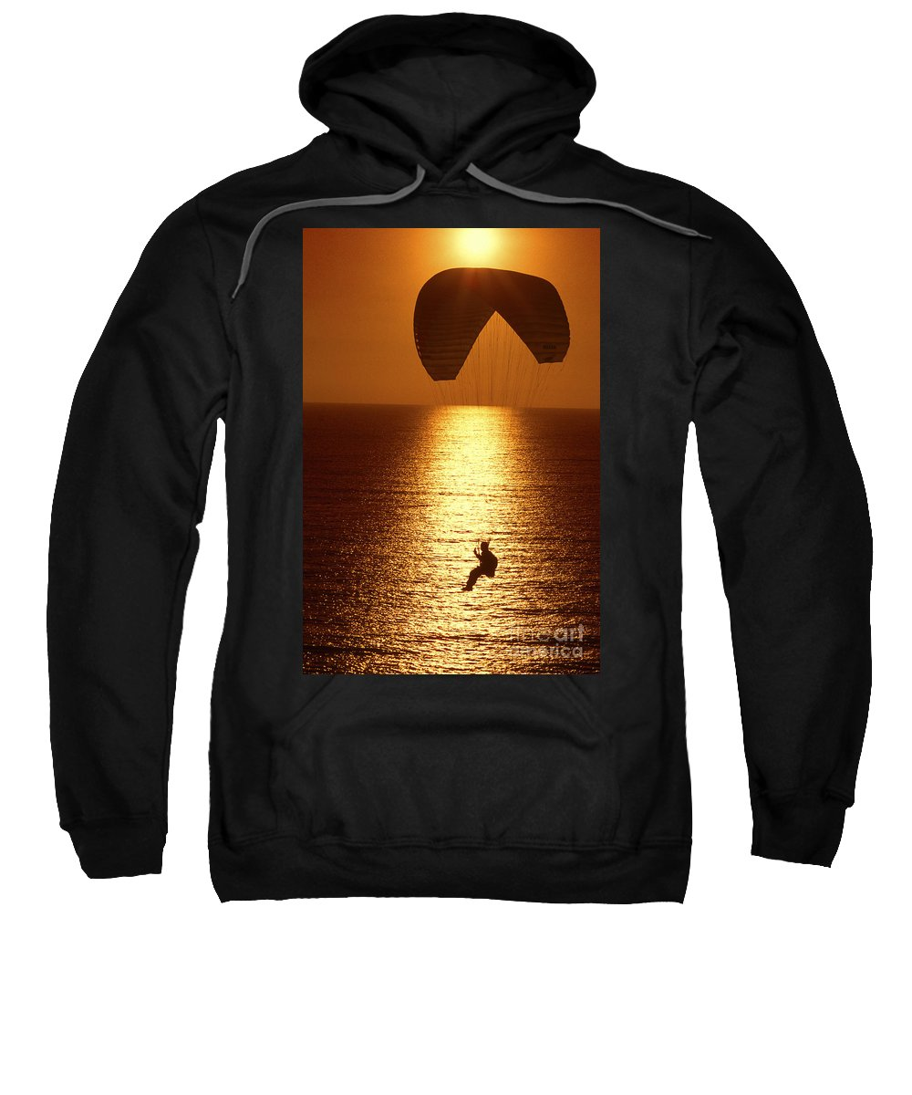 Sunset Sweatshirt featuring the photograph Sunset Flight by Paul W Faust - Impressions of Light