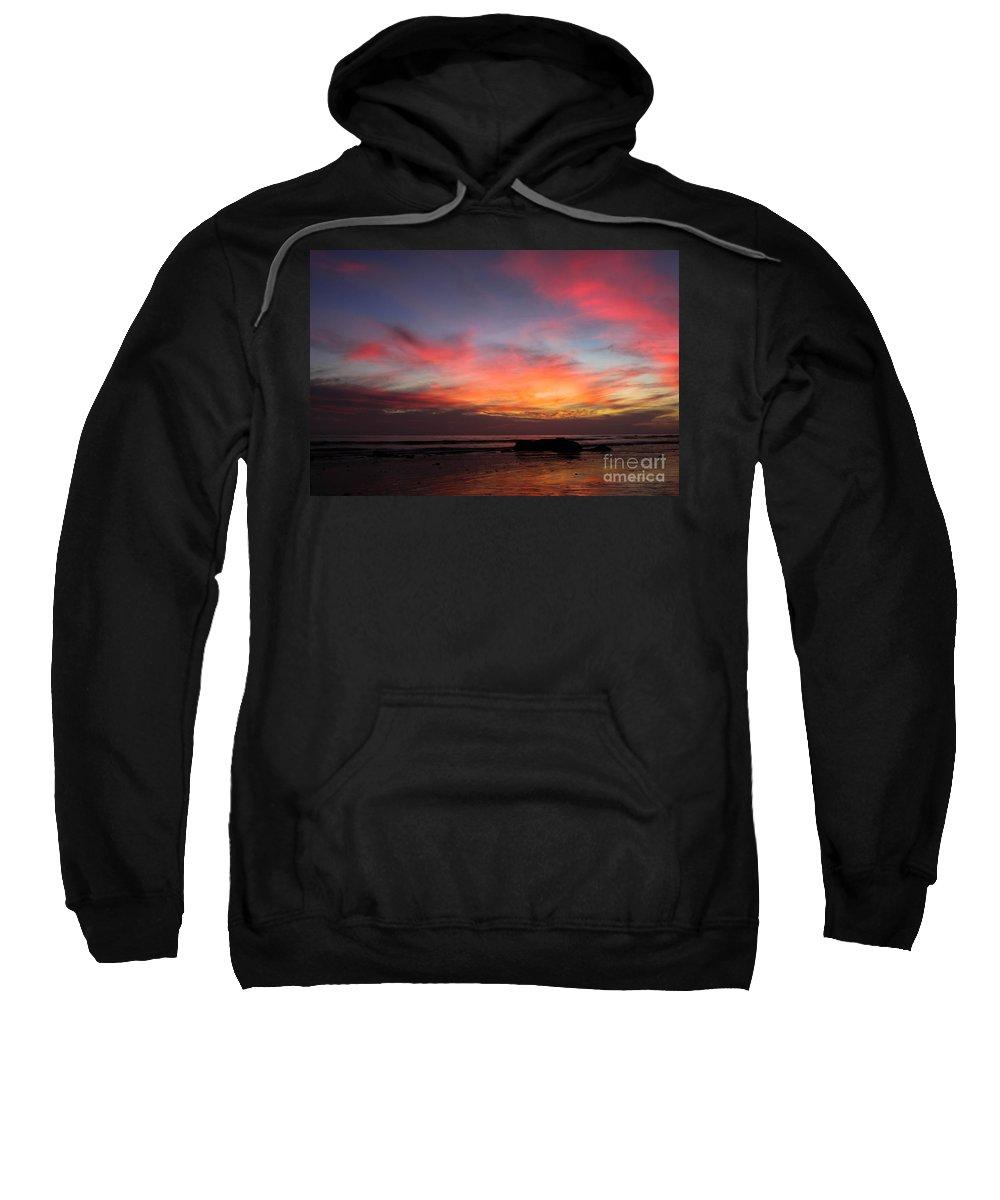 Sunset Sweatshirt featuring the photograph Sunset Handry's Beach by Henrik Lehnerer
