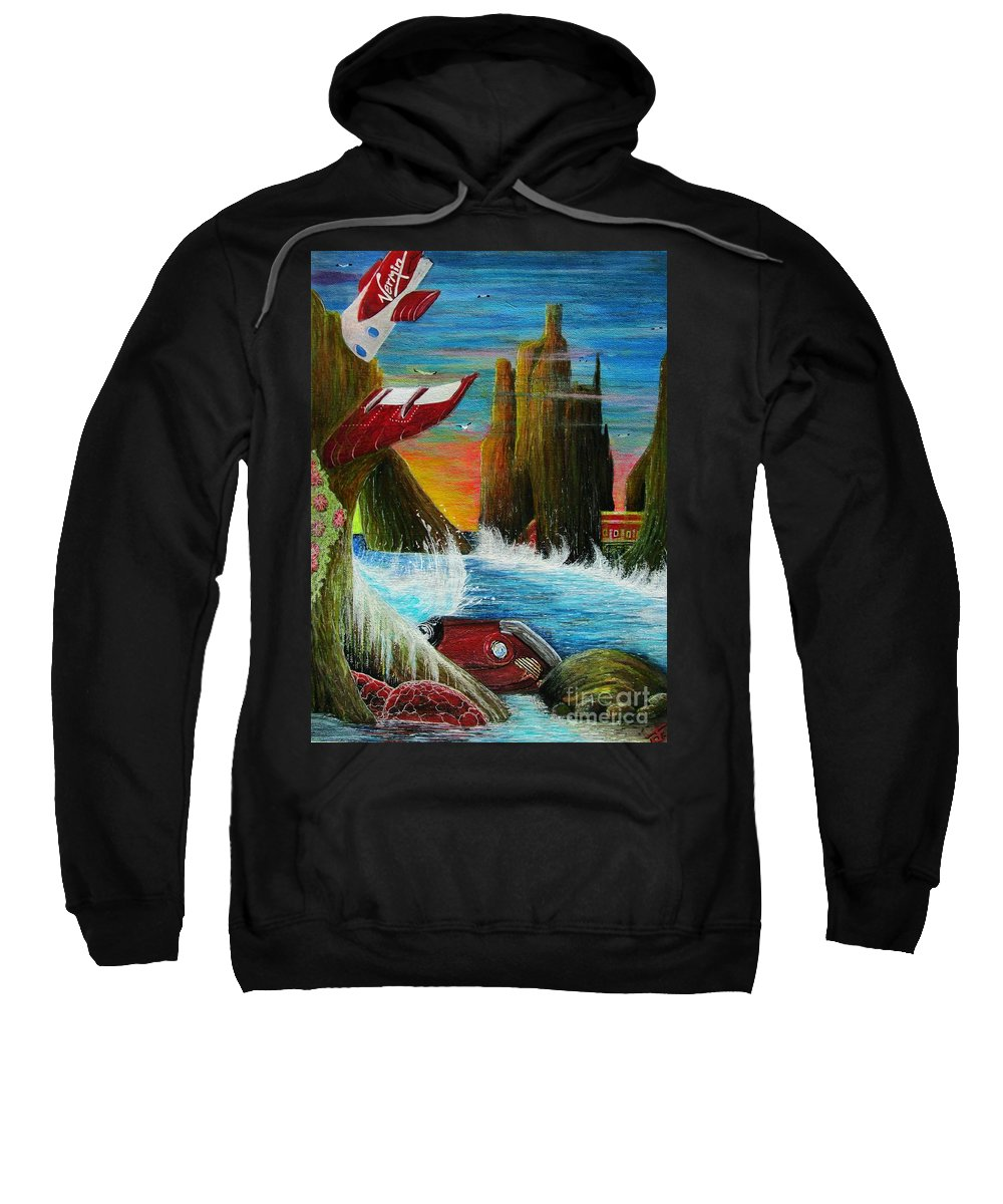 Life Sweatshirt featuring the painting Sunset On Earth Twenty Eight Days After People by John Foss
