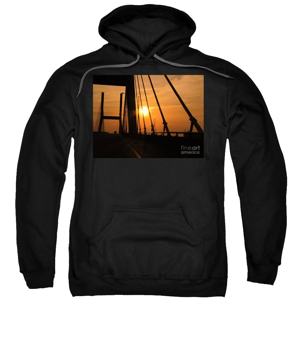 Sunset Sweatshirt featuring the photograph Sunset On The High Rise by Michelle Powell