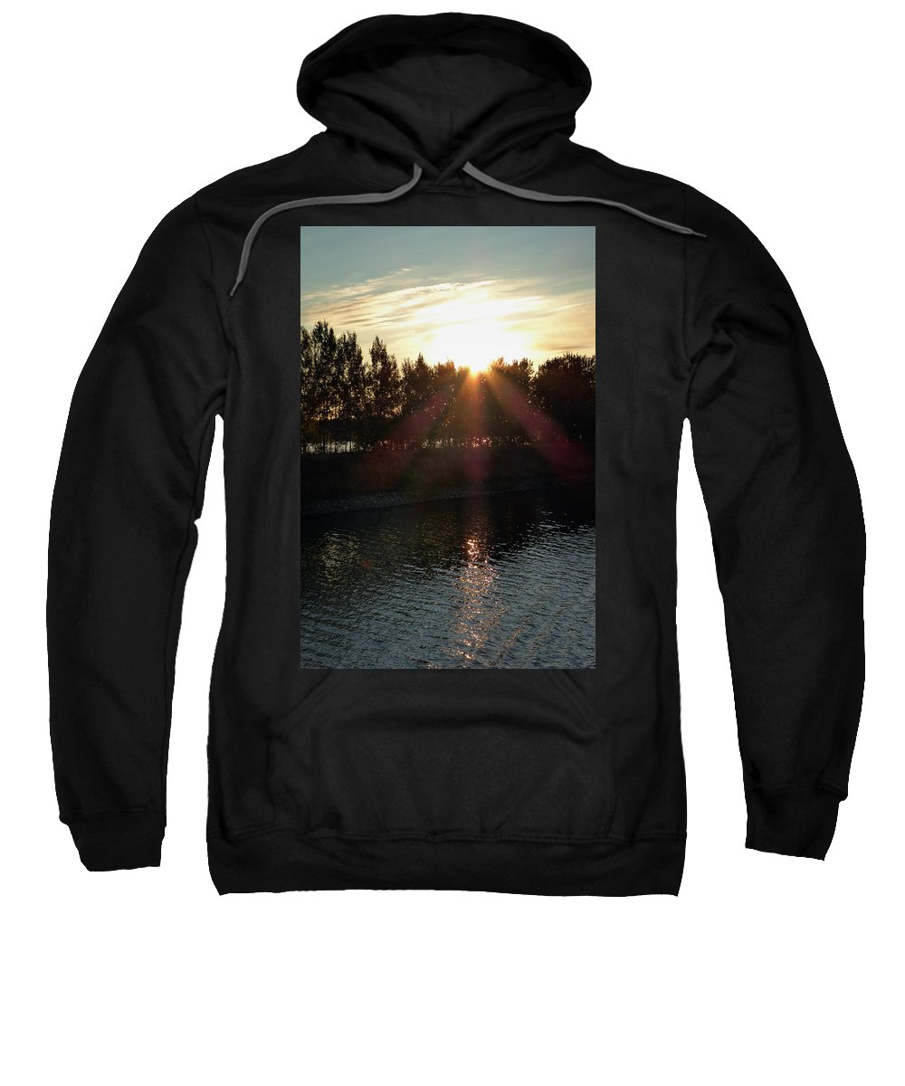 St. Basil's Cathedral Sweatshirt featuring the photograph Sunset On The Volga River by Linda Dunn